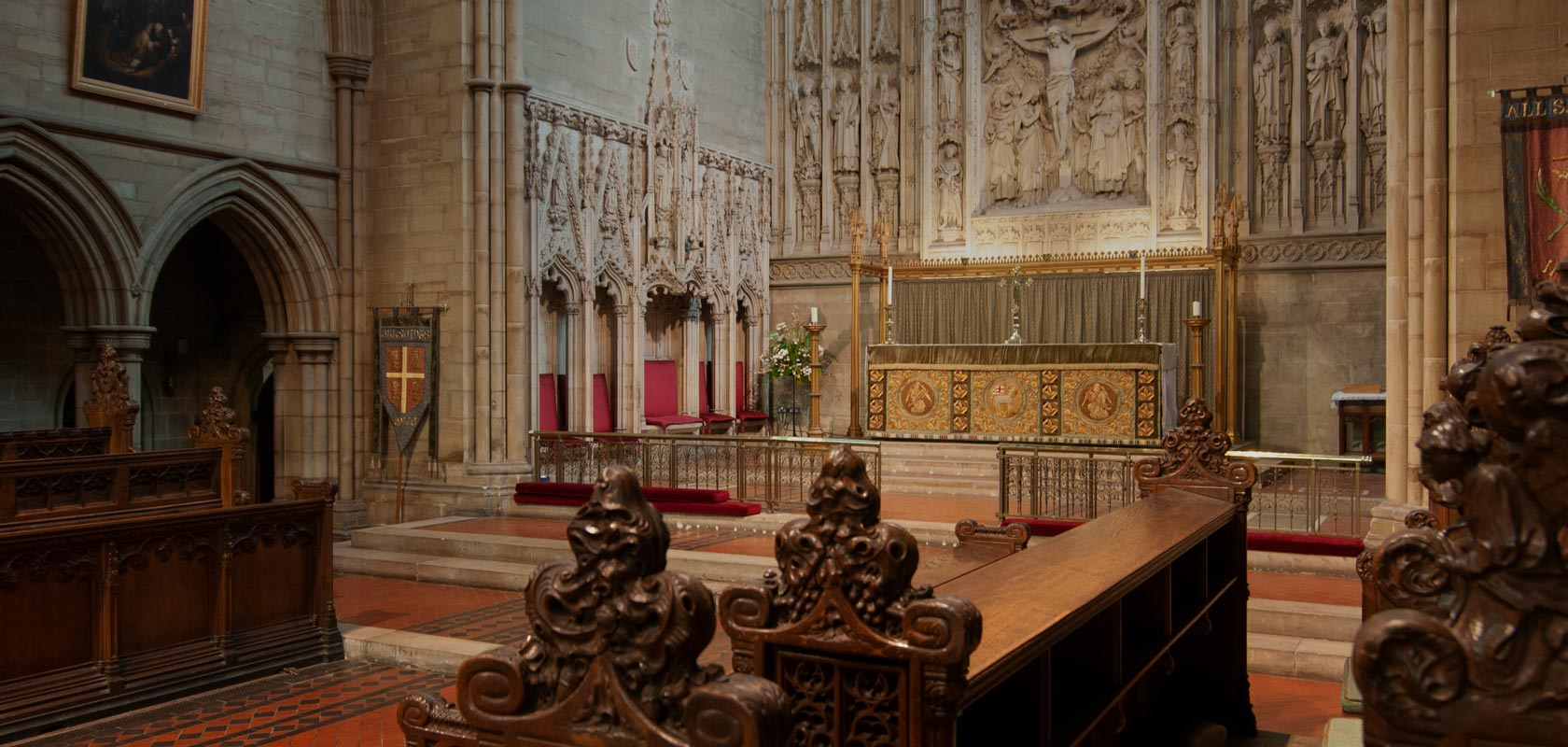 High altar at All Saints Hove, viewed from the choir stalls