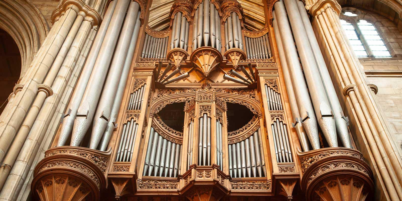 The Hill pipe organ at All Saints Hove
