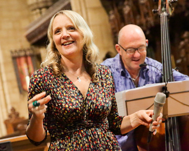 Imogen Ryall and Nigel Thomas at one of All Saints Hove's Lunchtime Concerts 2017