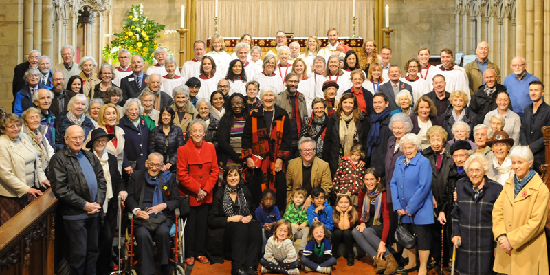 Parishioners celebrating All Saints Day 2018